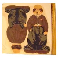 Vintage Charlie Chaplin Dean's Rag Doll (uncut)