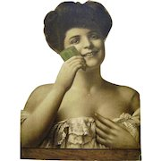 Vintage Die Cut Cardboard Palmolive Soap Sign