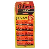 Vintage Gillette Razor Bade Display