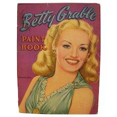Vintage Betty Grable Paint Book