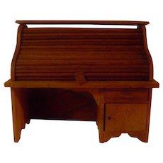 Vintage Miniature Roll Top Desk