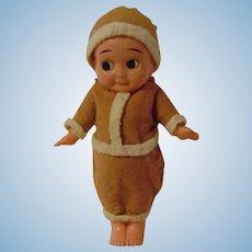 Vintage Celluloid Santa Kewpie Doll