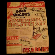 1946 Children's Activity Magazine with Great Buck Rogers Daisy Pistol On Back