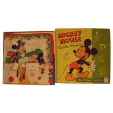 Vintage Boxed Mickey Mouse Kiddie Hankies