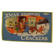 """""""Xmas"""" Shopping for Batger's Crackers Paper Label"""