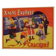 Vintage Christmas Crackers Paper Label