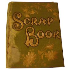 Vintage Scrap Book with Trade Cards and Scraps