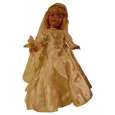 Hard Plastic 14 inch R & B Bride Doll