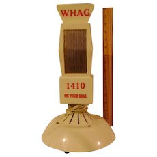 Vintage Plastic WHAG Microphone Shaped Radio