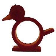 Vintage Bakelite Duck Napkin Ring