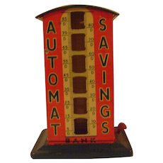 Vintage Tin Automat Savings Bank