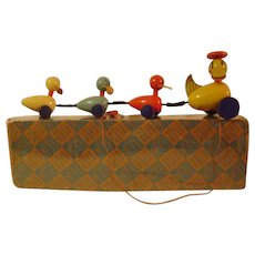 Vintage Fisher Price Quacky Family Pull Toy