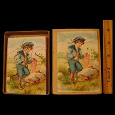 Vintage Small Paper Litho and Wood Victorian Jig Saw Puzzle