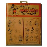 Vintage Mickey Mouse Tat-Ooh Display