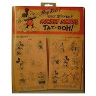 Vintage Mickey Mouse Tat-Ooh Display