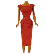 Vintage Red Sheath Dress for Barbie Doll