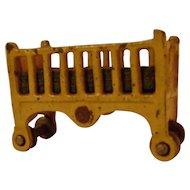 Vintage Kilgore Cast Iron Dollhouse Baby's Crib