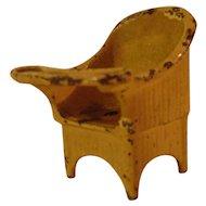 Vintage Kilgore Cast Iron Dollhouse Potty Chair