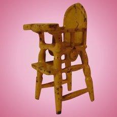 Vintage Kilgore Cast Iron Dollhouse High Chair