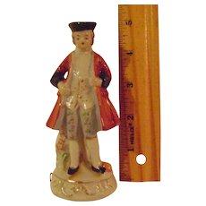 Vintage 5 inch Porcelain  Colonial Man Tape Measure