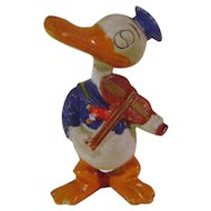 Vintage Bisque Violin Playing Donald Duck