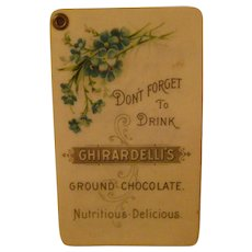 Vintage Celluloid Ghirardelli's Note Pad