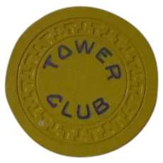 Vintage Poker Chip From the Tower Club, Hot Springs Ar.