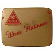 Vintage Ultrex Platinum Prophylactic Tin