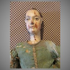 Rare Early 1700's Wooden Cage Doll - Carved and Beautiful