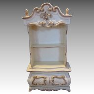 Lovely Vintage Doll House China Cabinet  with French Accents