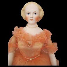 Stunning Emma Clear Bisque Head Doll in Gorgeous Dress - Red Tag Sale Item