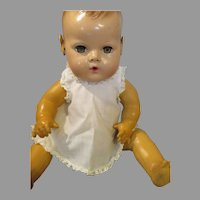 Vintage Dy Dee Baby White Cotton Dress or shift