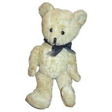Sweet Antique White Mohair Teddy Bear
