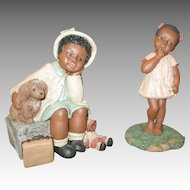 Two All God's Children Doll Figurines