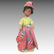 Antique French Black Doll in Original Outfit