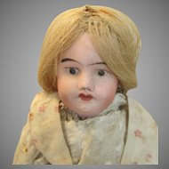 Antique French Bisque Head Doll in Original Outfit