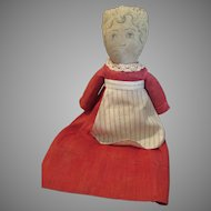 Vintage Cloth Doll with Printed Face