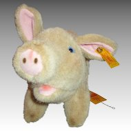 Steiff Pig with Button, Ear Tag and Paper Label