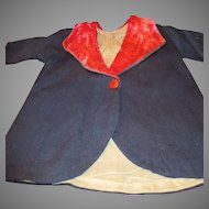 Antique Wool Coat for Your Bisque Head Doll or Composition Mama Doll
