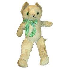 Vintage Stuffed Mohair Kitty