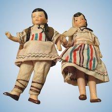 Antique Bisque Dolls in Original Costumes