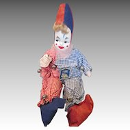 Sweet Vintage Cloth Clown Doll