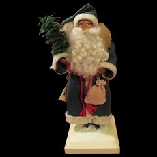Artist Clay Faced Santa - Signed - Red Tag Sale Item