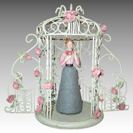 Doll House Sized Gazebo with Doll House Doll