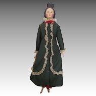 Unusual Milliners Model Doll in Amazing Dress