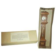 Sonia Messer Miniature Grandfather Clock in Original Box - Red Tag Sale Item