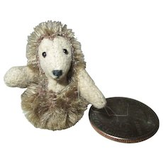 Minute Mohair Hedge Hog For Your Doll House