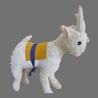 Vintage Plush Goat for Your Doll's Companion