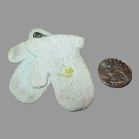 Vintage Knit Mittens for Dy Dee Baby Doll