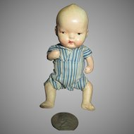 Darling Vintage Doll with Molded Hair